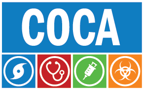 Clinicians Outreach and Communication Activity (COCA) logo.