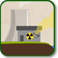 Illustration of an power plant accident