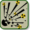 Illustration of a dirty bomb