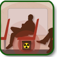 Illustration of a radiological exposure device